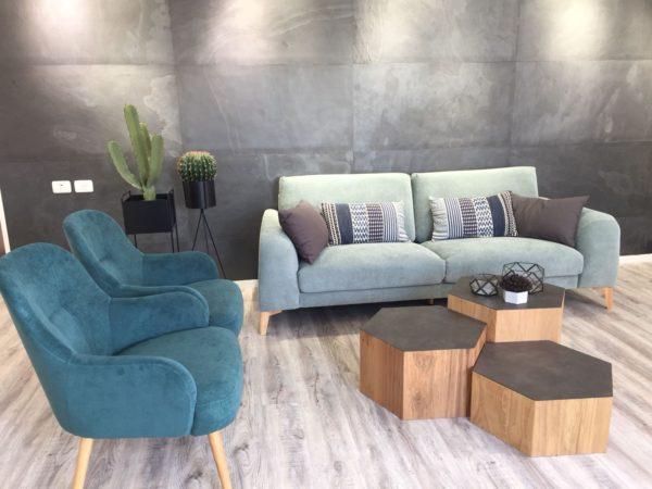 חיפוי דקורטיבי לסלון של אבן טבעית